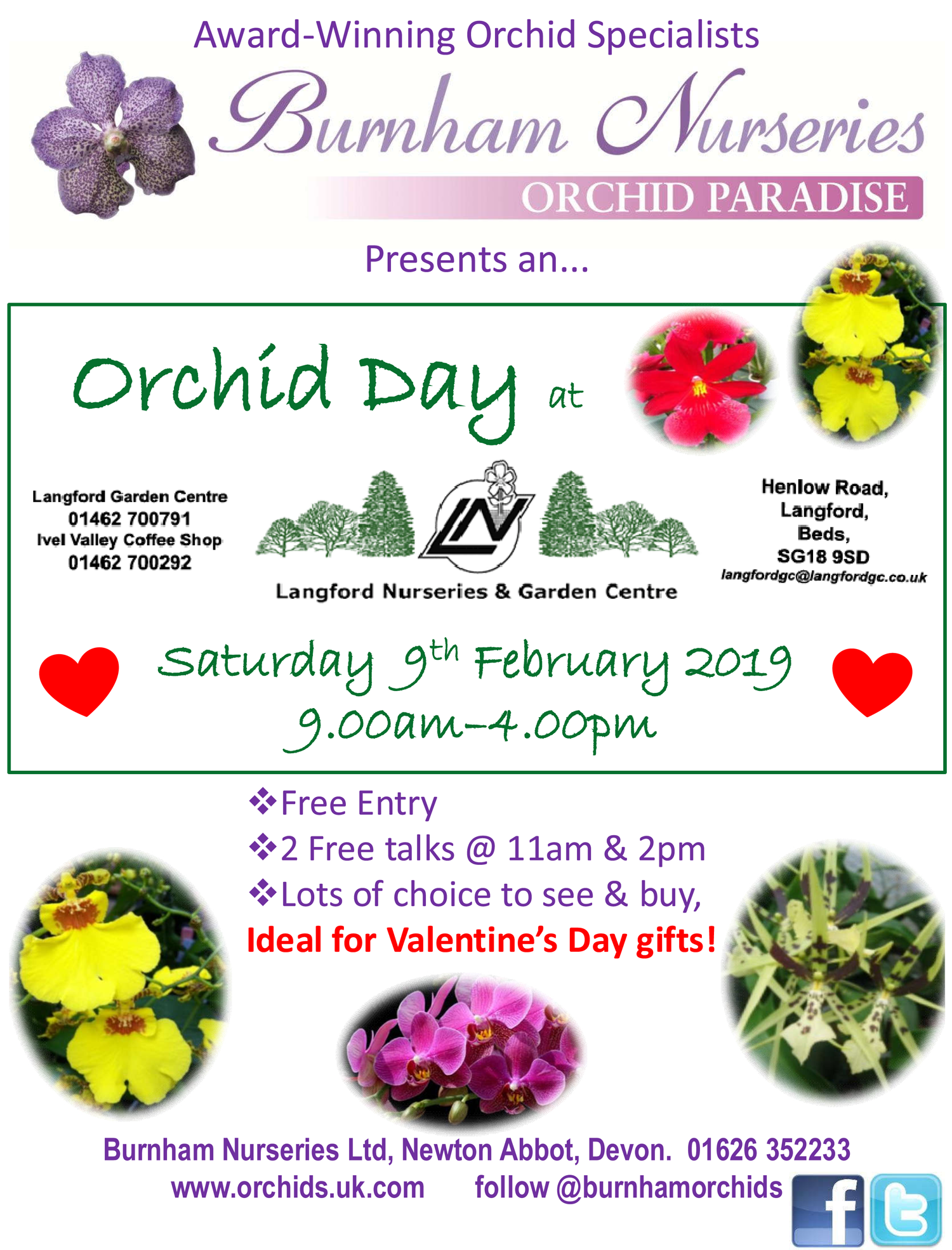 Langford Garden Centre Orchid day 2019